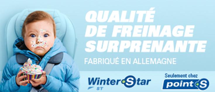 Point S: Les nouveaux pneus d'hiver Winterstar ST pour la sécurité routière.